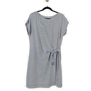 Vineyard Vines Navy and White Striped Dress